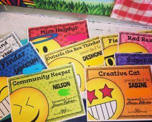 emoji onal end of year certificates