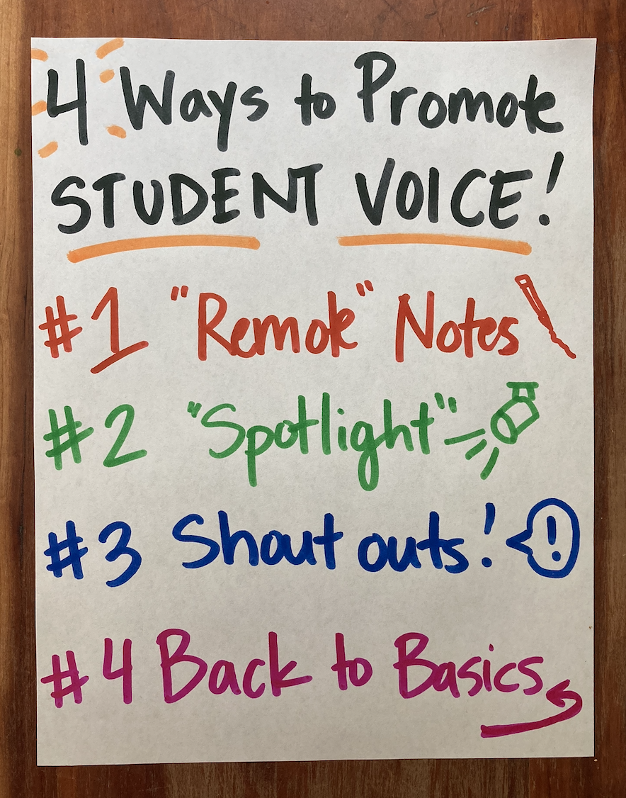 4 (No Frills) Ways to Promote Student Voice in a Remote Setting
